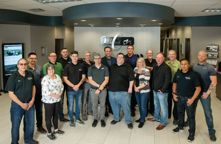 Picture of Photocopier Service Department at Hi-Tech's new office in Grande Prairie