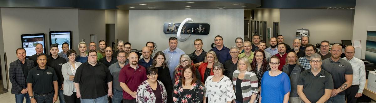 Hi-Tech Team Photo in Grande Prairie Office